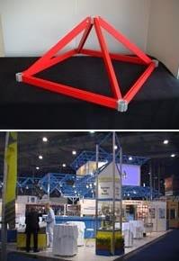 выставочные стенды с потолочными структурами