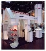 Выставочный стенд, созданный на основе простой модульной системы.