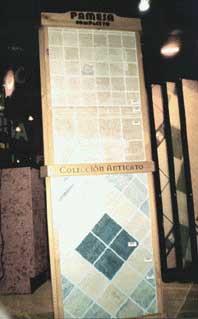 Выставочный стенд с керамической плиткой