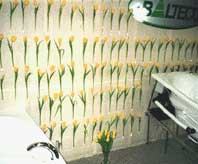 Выставочный стенд с цветами