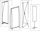 Портативные мобильные стенды banner, grafic